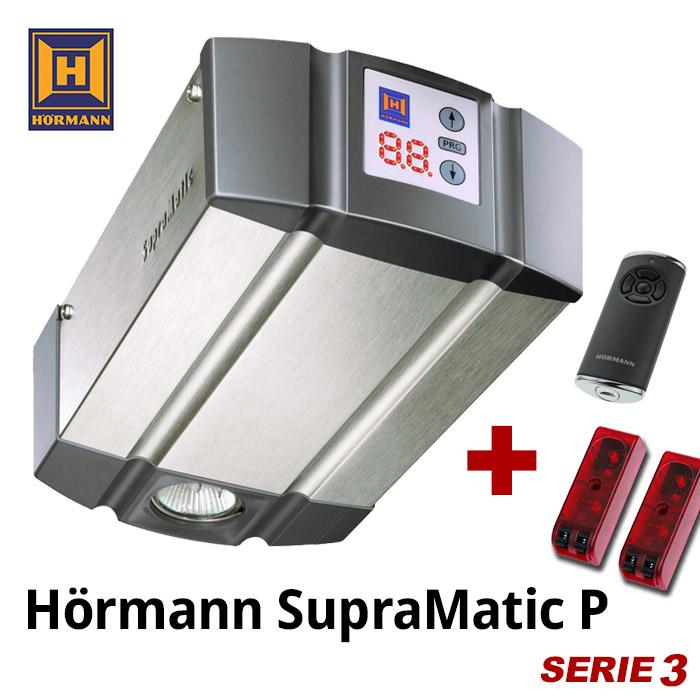 h rmann garagentorantrieb supramatic e p serie 3 bisecur mit ohne schiene. Black Bedroom Furniture Sets. Home Design Ideas