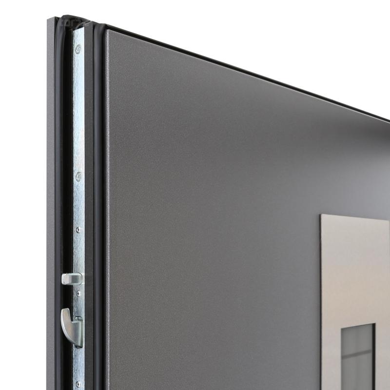 Geöffnete haustür  Hörmann Haustür UD-Wert 0,95 ThermoPlus Titan Metallic CH703 THP ...