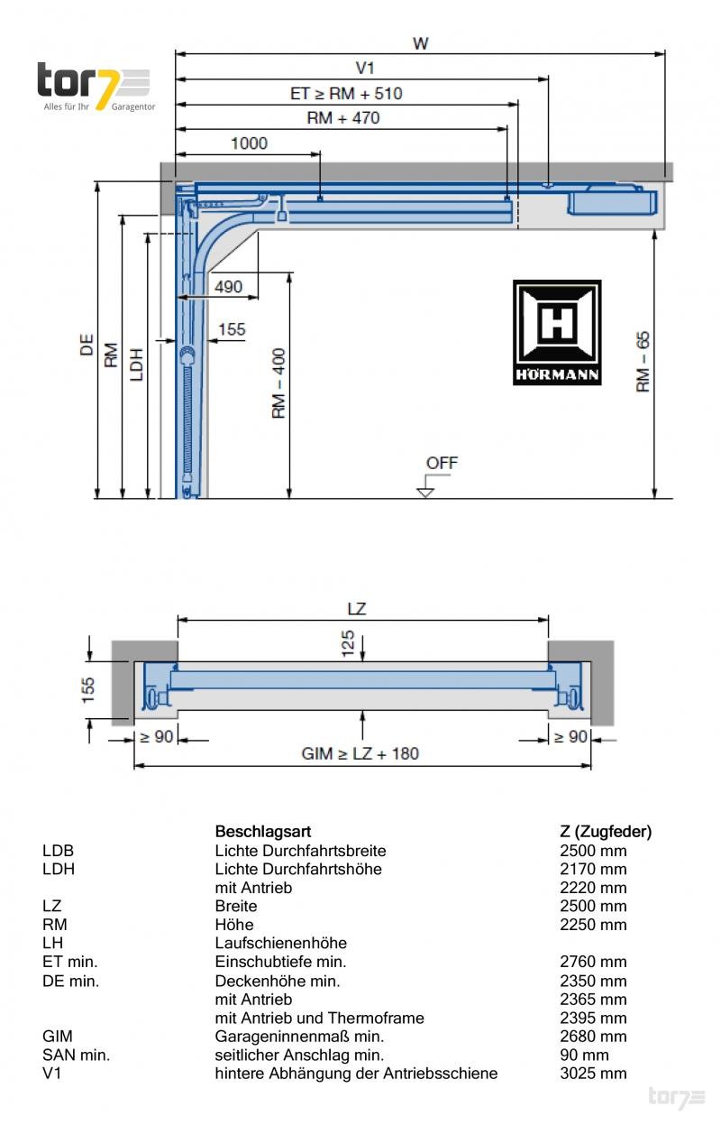 h rmann sektionaltor 42mm 2500x2250mm 7016 anthrazitgrau garagentor rolltor ebay. Black Bedroom Furniture Sets. Home Design Ideas