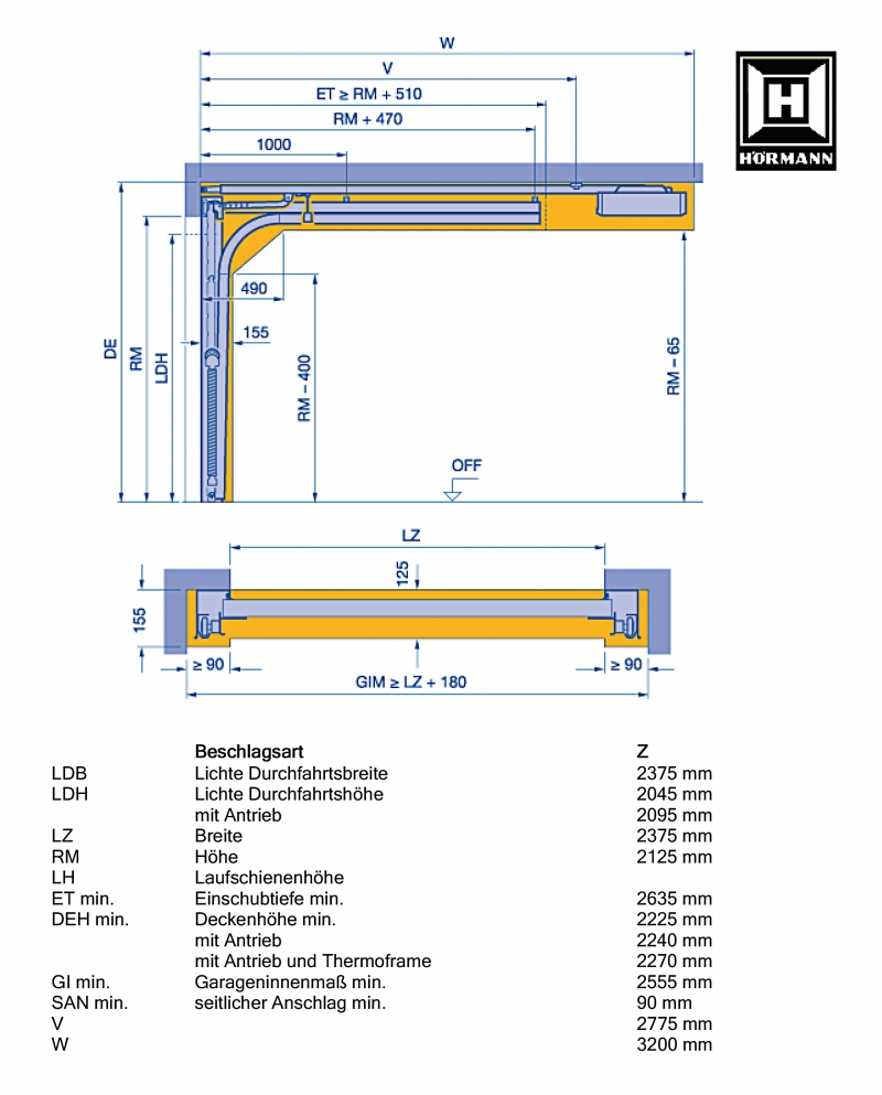 h rmann sectionaltor epu40 2375x2125mm titan garagentor. Black Bedroom Furniture Sets. Home Design Ideas